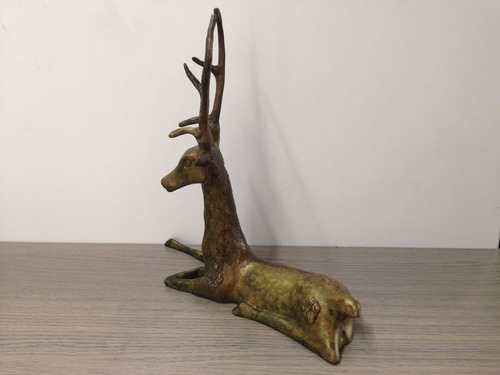 adorno de animales siervo en bronce excelente estado