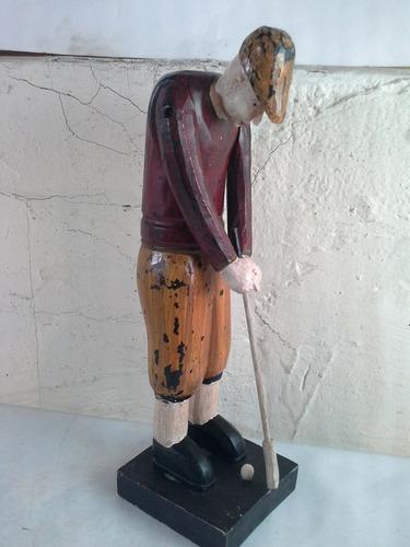 adorno de golf vintage de madera clave 2257