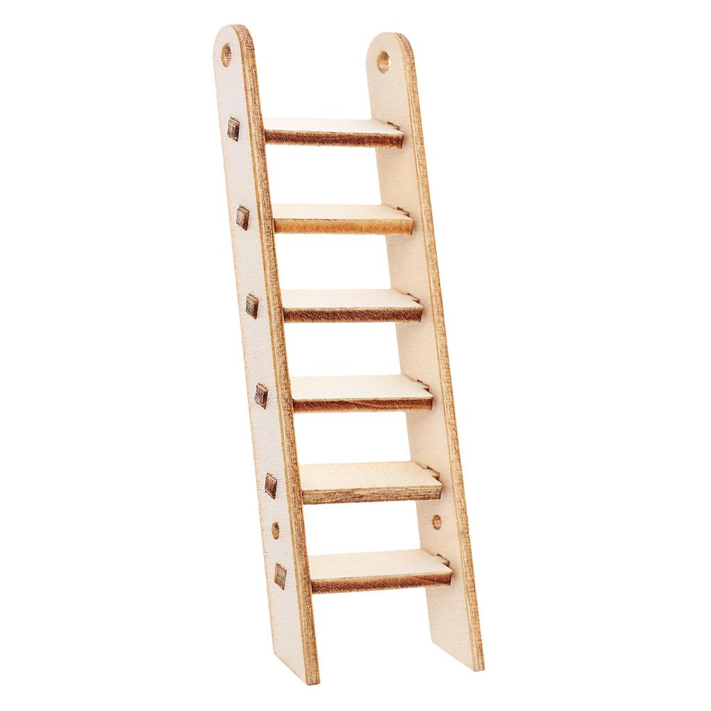 adorno de madera forma escalera cortado con láser 244 93 en