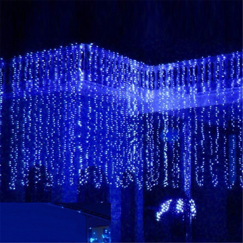 adorno de navidad agptek 3mx3m 300led string light curtain