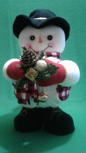 adorno de navidad hombre de nieve gordito 46 cm