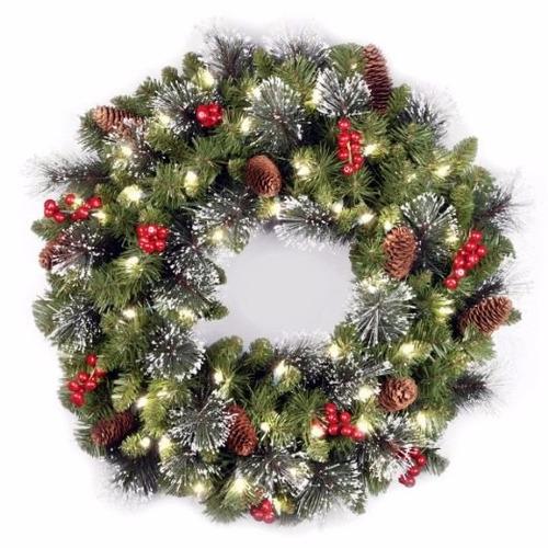 adorno de navidad national tree 24-inch crestwood spruce