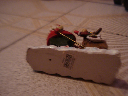 adorno de navidad san nicolas  y venado