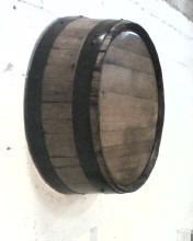 adorno de pared artesanal en madera barril o barricas