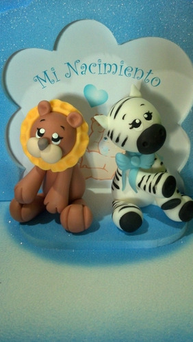 adorno de torta animales selva y granja !!