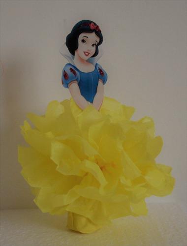 adorno de torta, centro de mesa, souvenir princesas disney