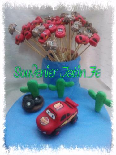 adorno de torta de cars, pinches, souveniers