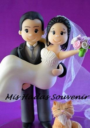 adorno de torta de casamiento boda enlace en porcelana fria!