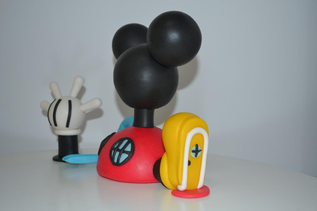 Adorno De Torta De La Casa De Mickey Mouse En Porcelana Fria ...