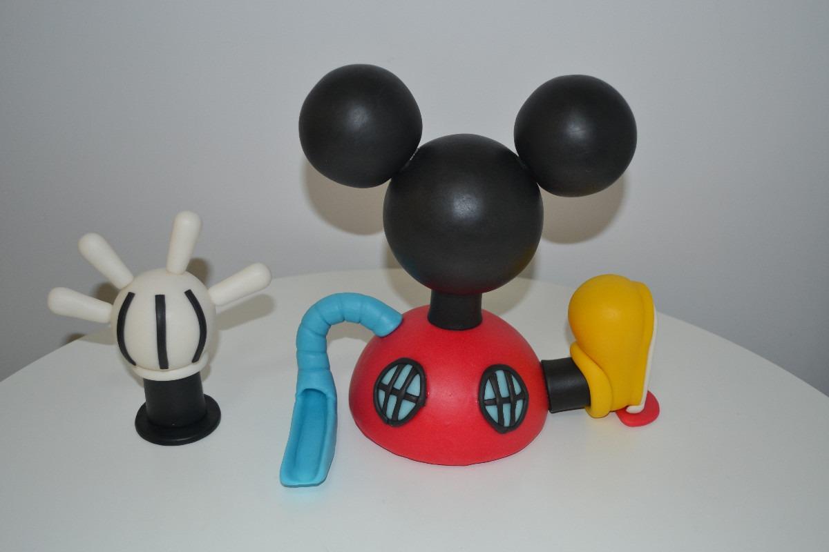 Adorno Para Torta De La Casa De Mickey Mouse Porcelana Fria - Arte ...