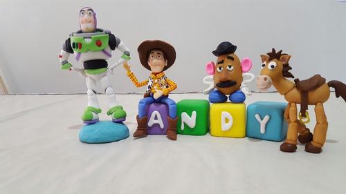 adorno de torta de toy story en porcelana fría