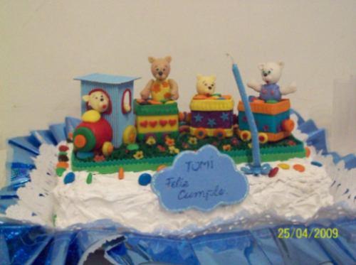 adorno de torta infantil tren