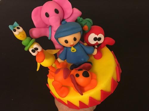 adorno de torta pocoyo y sus amigos
