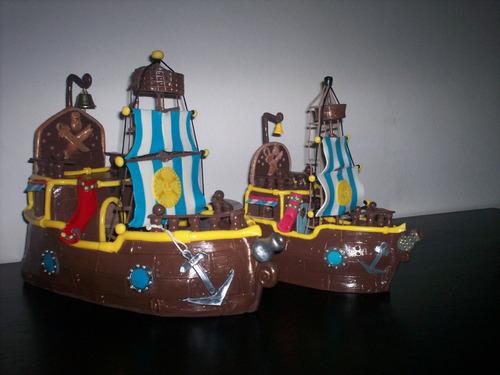 adorno de torta porcelana barco de jake y los piratas