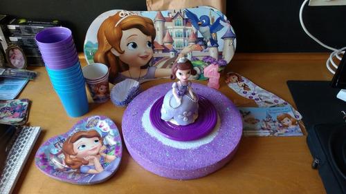 adorno de torta princesita sofia en porcelana fria