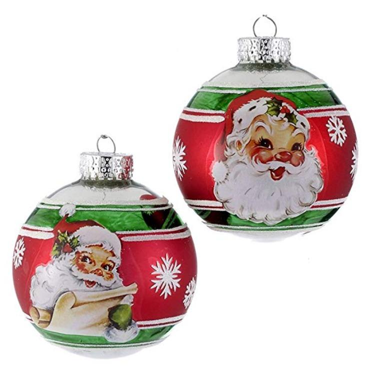 Adorno Esferas Decoradas Navidad Santa Claus