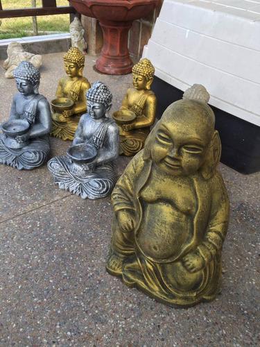 adorno estatua buda panzón 55 cms