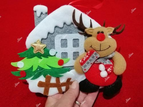 adorno fieltro árbol de navidad decoración