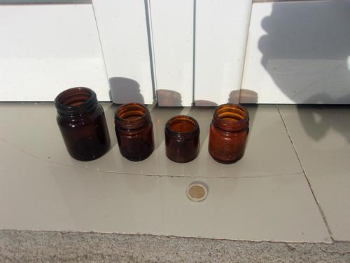 adorno frascos de vidrio color ámbar (leer) +regalo