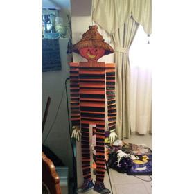 Adorno Halloween Espantapájaros Calabaza Colgante