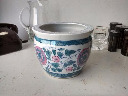adorno maceta florero macetero centro de mesa de ceramica!
