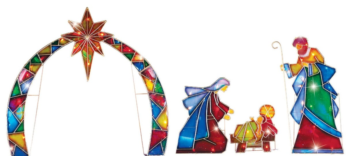 45bec094b58 adorno navidad decoracion nacimiento iluminado grande arco. Cargando zoom.