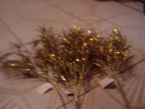 adorno navidad palma helecho hojas pequenas (combo 4pzas)