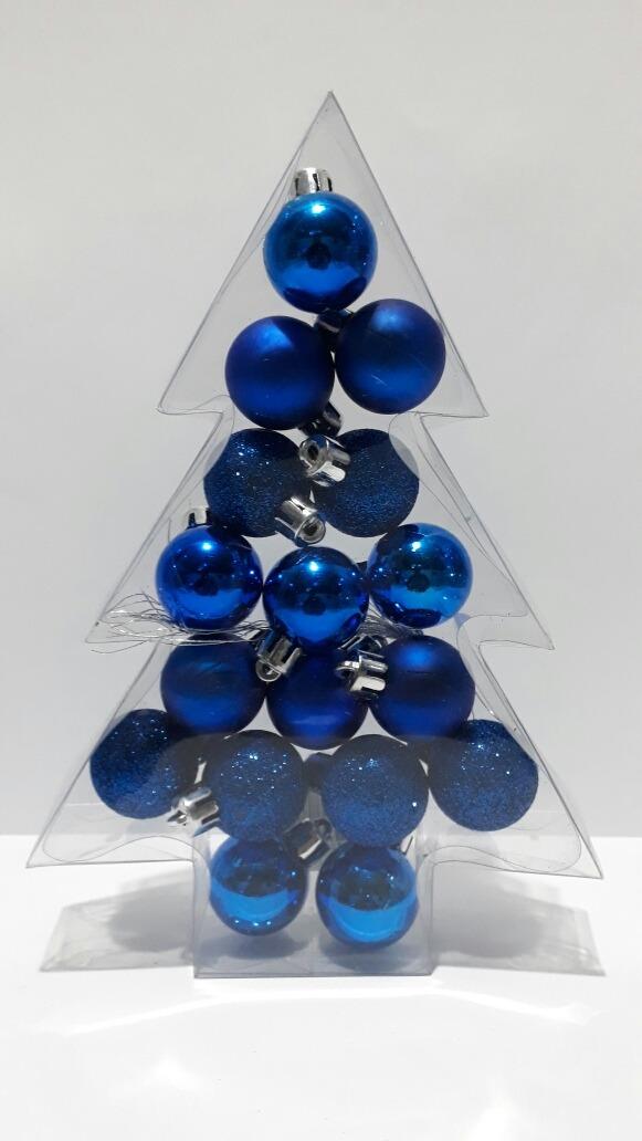 270969cf7bb Adorno Navideño Bolas Arbol Navidad 3 Cm X 17 Unidades -   149