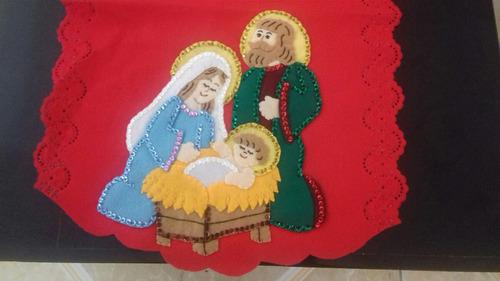 adorno navideño, camino de mesa