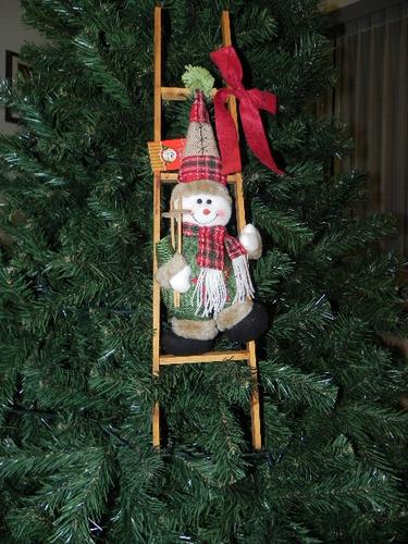 adorno navideño escalera muñeco de nieve nuevo marca miro