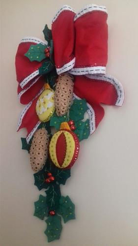 adorno navideño, moño para decorar la puerta o pared