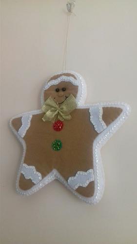 adorno navideño, muñecos de fieltro
