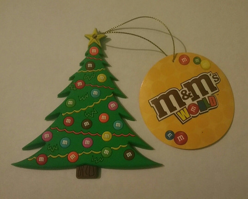 adorno navideño para árbol, dulces m&m.