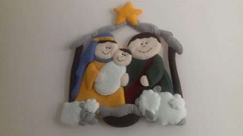 adorno navideño portal de fieltro