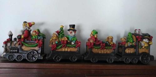 adorno navideño. tren de cerámica