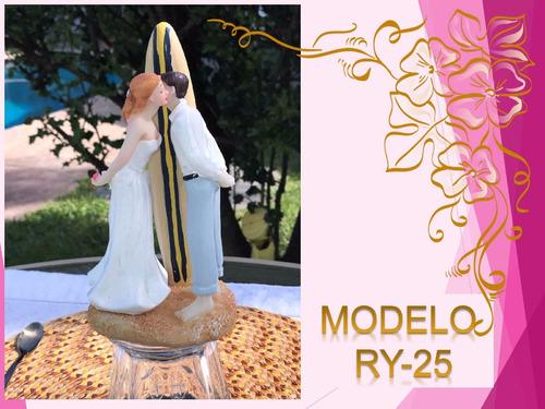 adorno novio muñecos torta bodas cake casamiento topper ry25
