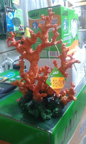 adorno para acuario tipo coral jad