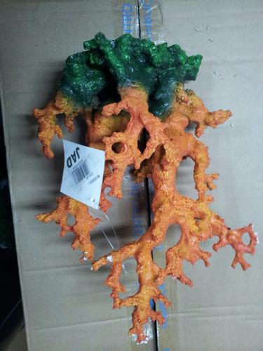 adorno para acuario tipo coral jad cw55