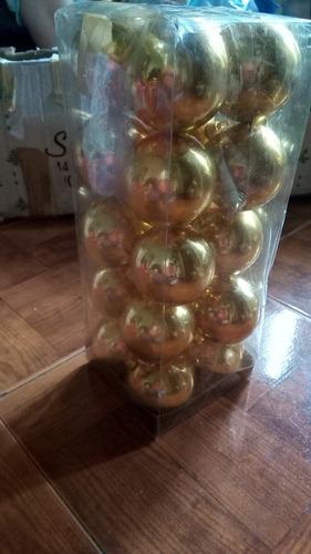 adorno para el arbol de navidad bambalinas doradas pack 20