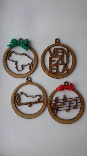 adorno para el arbolito navidad bambalinas de colores en mdf