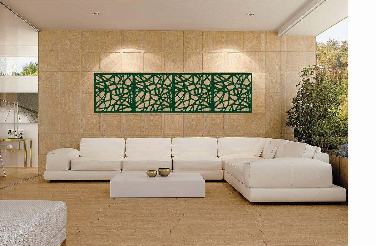 Adorno para sala de estar em mdf 9mm 240cm frete pintura for Salas en l modernas