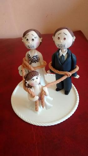 adorno para torta bodas en porcelana fria.