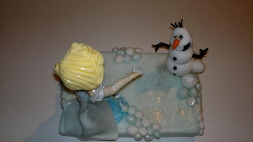 adorno para torta frozen
