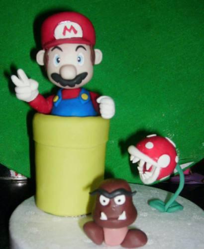 adorno para torta infantil - mario bros
