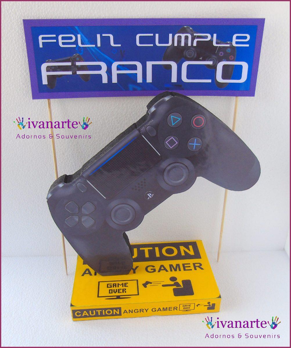 Adorno Para Torta Joystick Cartel Bengala Ps4 Xbox Gamer 300