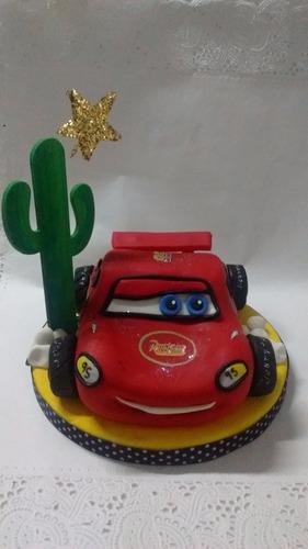 adorno para torta porcelana fria cars