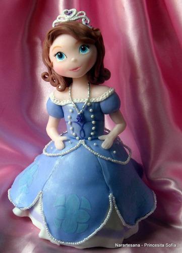 adorno para torta princesita sofía porcelana fría