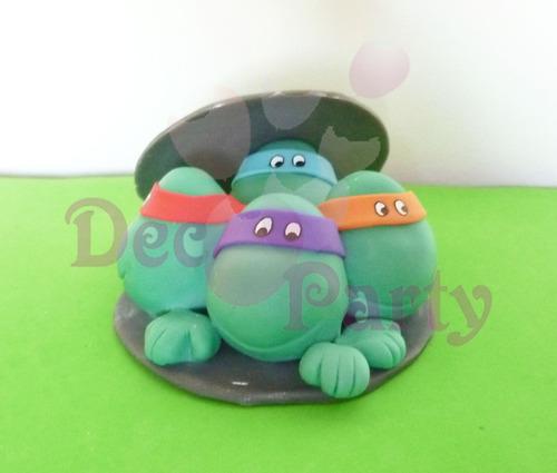 adorno para tortas. tortugas ninja.