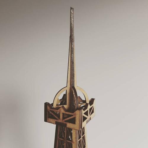 adorno torre eiffel en mdf 65cm