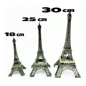 Adorno Torre Iffel Francia 30cm Oro Viejo Xv Años Bodas
